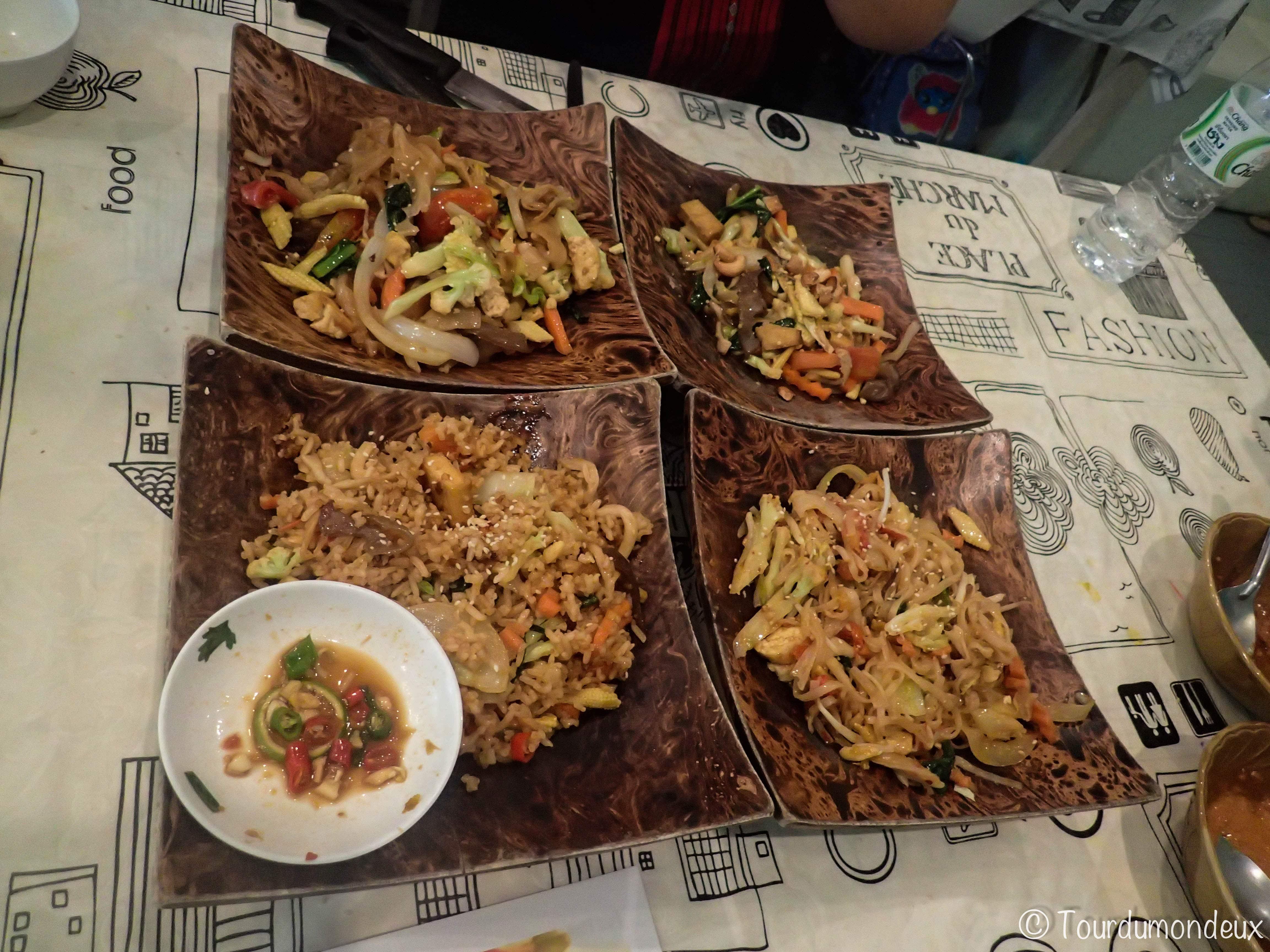 riz-nouilles-fries-thaïlande