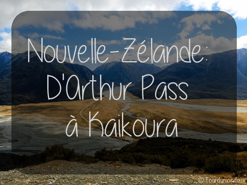 D'Arthus Pass à Kaikoura